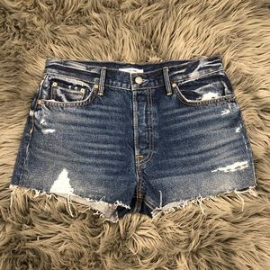 GRLFRND Short Denim Girlfriend x Revolve Kaia